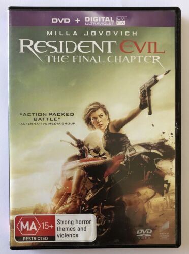 The Resident Evil - Final Chapter DVD VGC Rated MA15+ Region 4 Aus Horror