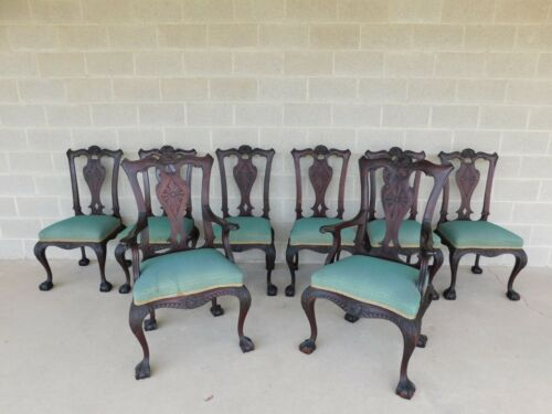 Feldenkreis  Antique Mahogany Chippendale Style Chairs - Set of 8