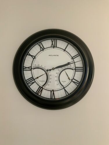 Modern Clock with Humidity and Temperature as pictured decoration