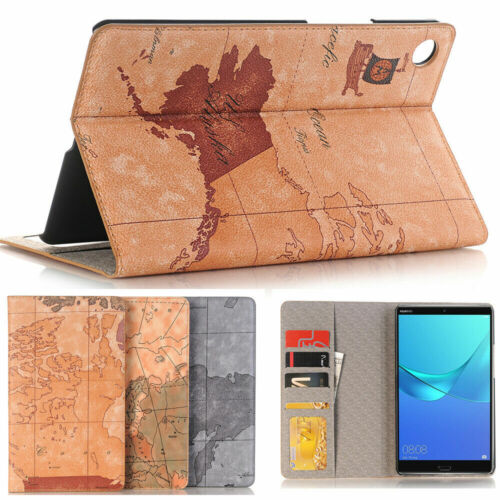 Leather Stand Folios Flip Case For Huawei MediaPad M5 Pro M6 M3 Lite T5 8 T3 10
