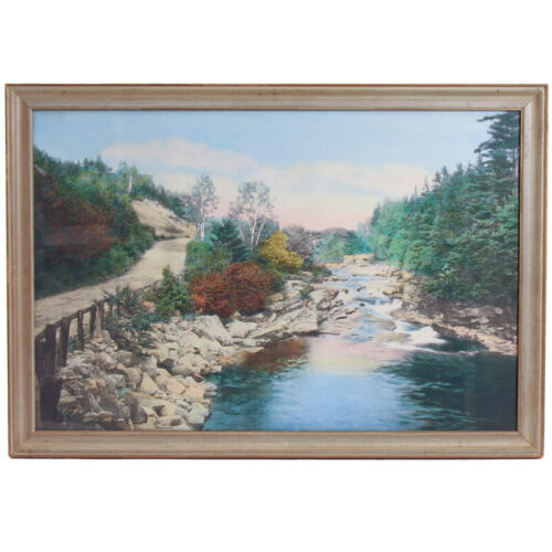 """WALLACE NUTTING """"A Little River"""" LARGE 19""""x29"""" Print in 22""""x32"""" Frame RARE SIZE"""
