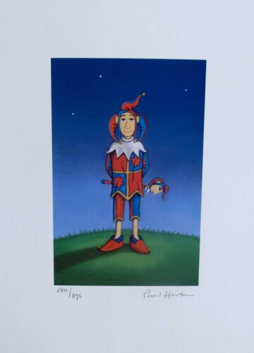 """PAUL HORTON """"THE JESTER"""" Hand Signed Limited Edition Giclee Art"""