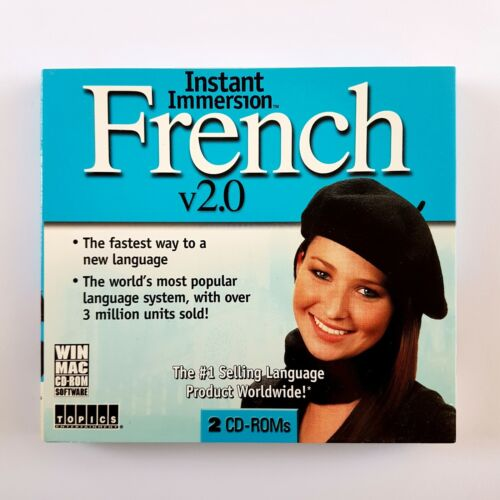 Instant Immersion French v2.0 (PC/Mac CD-ROM, 2005) Learn to speak French