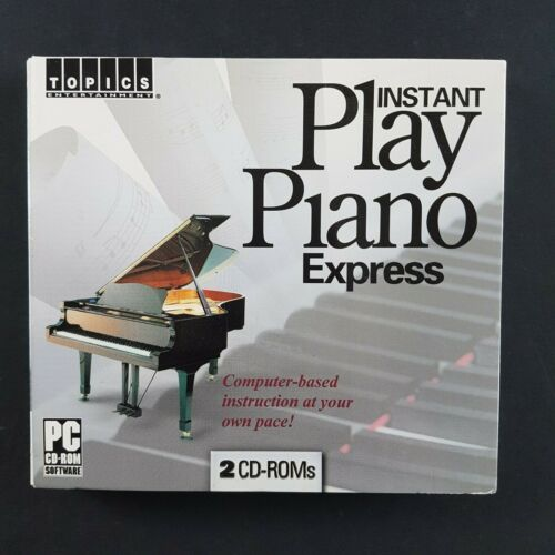 Instant Play Piano Express (PC CD-ROM, 2006)