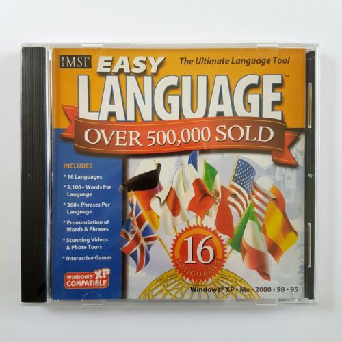 Easy Language 16: The Ultimate Language Tool (PC CD-ROM, 2003) Over 500,000 Sold