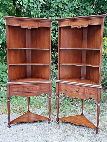 Elegant Vintage corner cupboard cabinet with drawer by Heritage 2 available