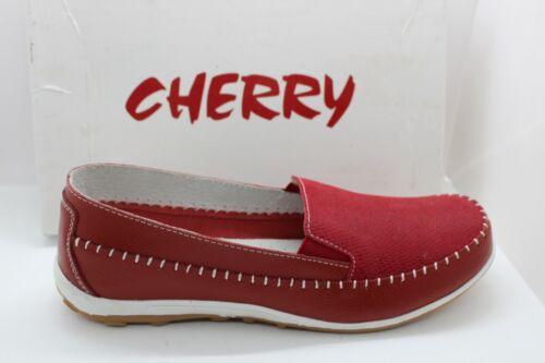 SHOES/FOOTWEAR - Cherry slip on shoe Yes Red