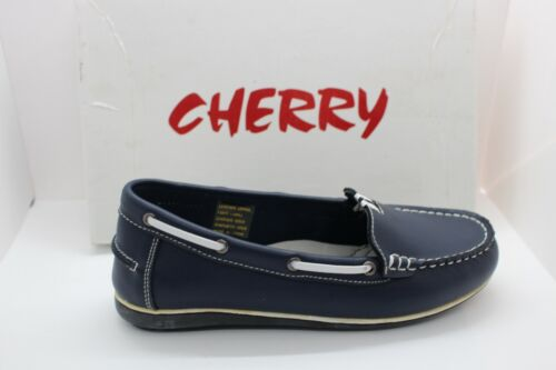 SHOES/FOOTWEAR - Cherry slip on shoe Natural navy moccasin