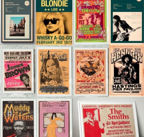 RARE BAND ROCK Posters, Concert Posters, Tour Posters, A5 A4, A3, A2 <br/> BUY 2 GET 1 FREE✔️ SHIP WORLDWIDE ✔️ PREMIUM QUALITY