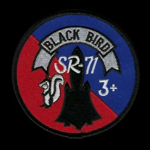 SR-71 BLACK BIRD FLIGHT TEST MACH 3  AFB HAT PATCH SKUNK WORKS US AIR FORCE WOW
