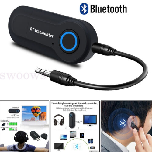 3.5mm Jack Sender Bluetooth 4.2 Audio Adapter Transmitter For Stereo TV PC A2DP