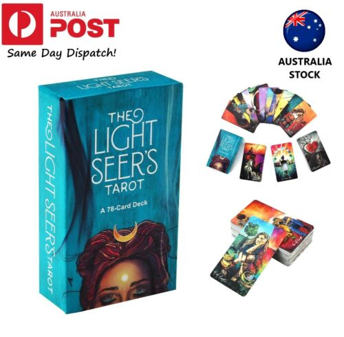 Light Seer's Tarot Cards Deck Board Game 78 Cards Electronic Guidebook AU Stock