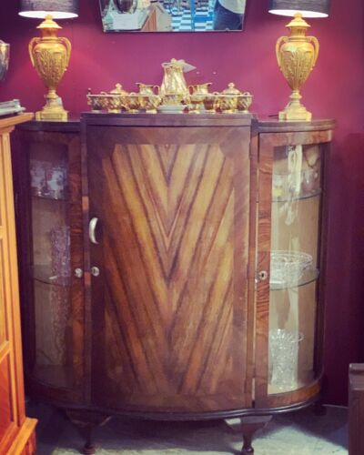 1940s Art Deco Cabinet / Display Cabinet / China Cabinet