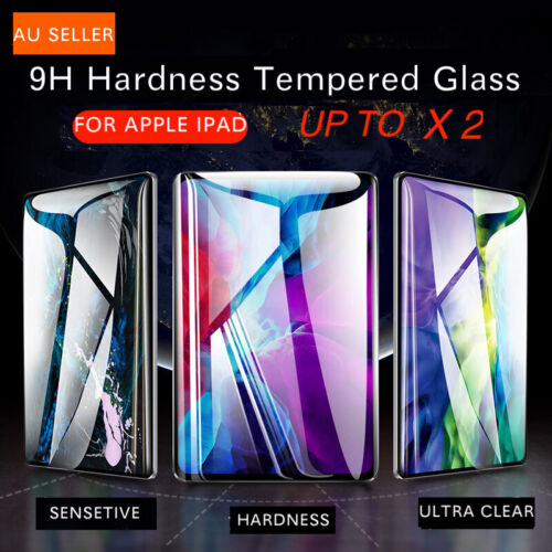For Apple iPad 7th 8th 6th 5th Gen Air 1 2 9.7 Tempered Glass Screen Protector