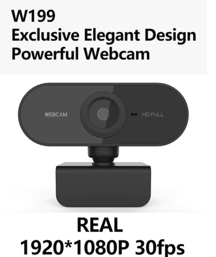 Full HD 1080P Webcam USB With Mic Mini Computer Camera Flexible Rotatable W199