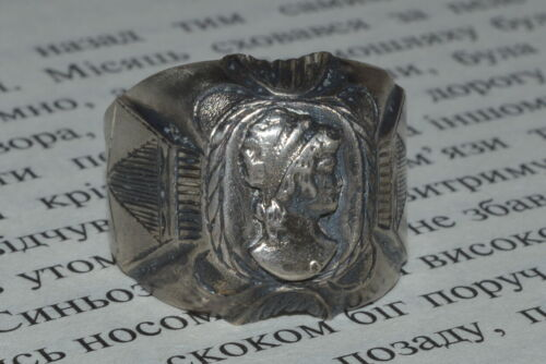 ANTIQUE IMPERIAL RUSSIAN 19th ! SILVER 84 Ring Renaissance rare size 10