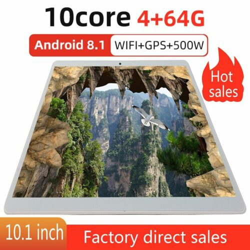 """4G+64G 10.1 """"inch Tablet PC GPS Android 8.1 10-core Google WIFI Dual camera"""