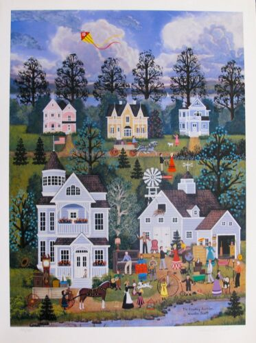Jane Wooster Scott COUNTRY AUCTION Hand Signed Limited Edition Lithograph Art