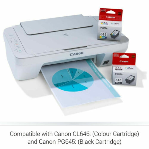 Canon PIXMA MG2560 3in1 Color Inkjet MFP Printer Copy Scan With Ink Cartridges