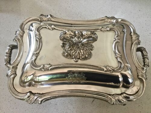 Stunning Georgian Regency Sheffield Plate Silver Entree Dish Pair Available 1820