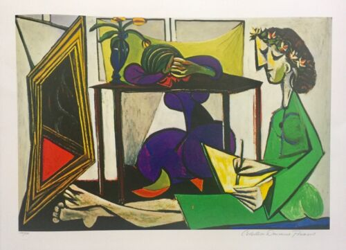 Pablo Picasso INTERIOR WITH GIRL DRAWING Estate Signed & Numbered Giclee Art