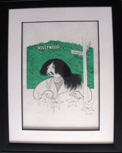 AL HIRSCHFELD RINGO STARR Hand Signed Framed Ltd Edition Lithograph THE BEATLES