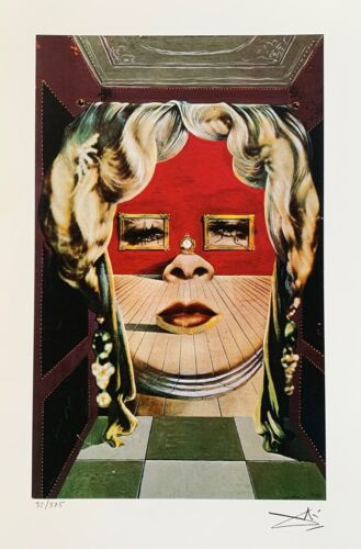 Salvador Dali MAE WEST FACE Facsimile Signed & Numbered Giclee Art
