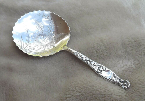 "Heraldic by Whiting 5 1/8"" Sterling condiment spoon no mono Nice"
