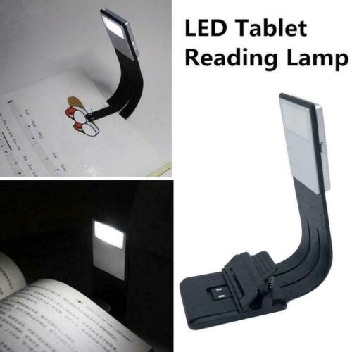 LED Reading Book Light With Detachable Flexible Clip Lamps USB Rechargeable O9D2