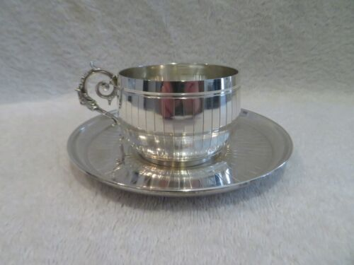 Gorgeous Early 20th c French sterling silver tea cup Empire st Ch Barrier l6