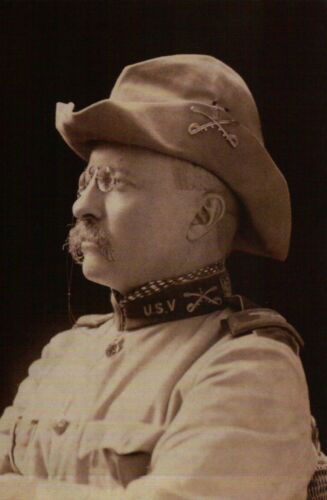 Theodore Roosevelt, President of the United States, Eye Glasses & Hat - Postcard