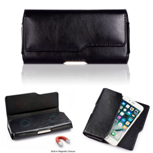 Genuine Leather Waist Cell Phone Belt Pouch Case Holster For iPhone 12 Pro Max