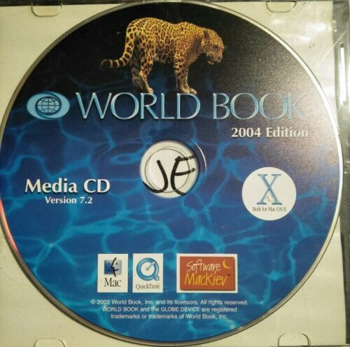 World Book 2004 Edition Version 7.2 Good Condition Free Shipping