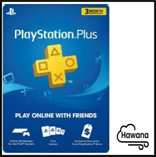 Sony PlayStation PS Plus PSN 3-Month / 90 Days Membership Subscription