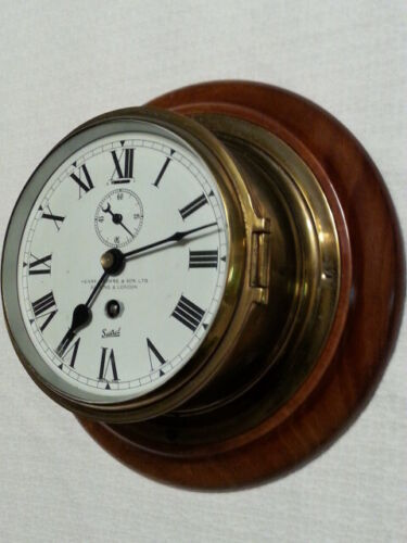 SESTREL MARINE CLOCK - HENRY BROWNE & SON LIMITED BARKING AND LONDON