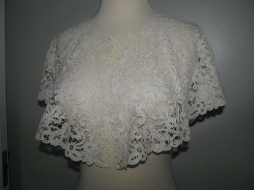 ANTIQUE LACE COLLAR HONITON BOBBIN ALL HAND DONE LARGE STUNNING  EXCELLENT