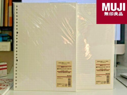 B5/A4/A5 Muji Japan Loose-Leaf Paper Smooth Calligraphy Grid Lined Ruled Squared