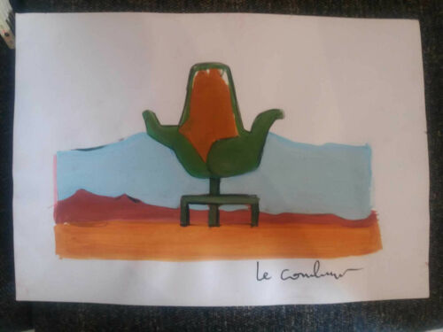 LE CORBUSIER  MIXED MEDIA ON PAPER