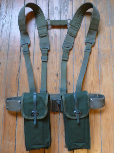 french army foreign legion LBE ΜΑΤ 49 MAS 38 mag ammo pouch X2 belt suspenders Original Period Items - 13983
