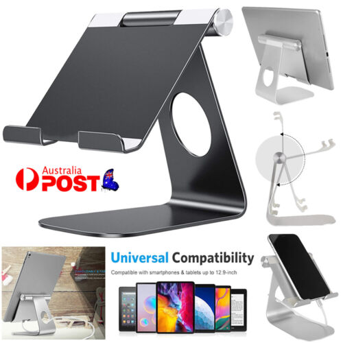 For iPad Air/ Mini iPhone Adjustable Aluminium Stand Holder Tablet Read Mount