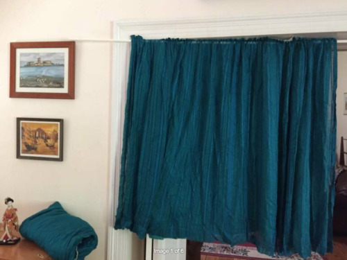 Blue Mid Century Curtains plus Lace & Voile