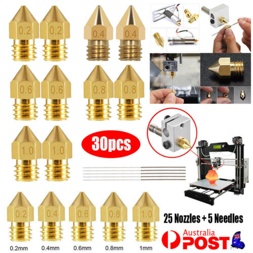 30PCS 3D Printer Nozzle Cleaning Needle Set For Ender 3 PRO CR10 MK8 Extruder