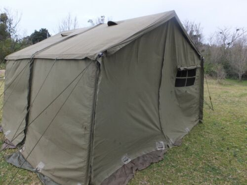 AUSTRALIAN ARMY 11x11 TENT { 2 SECTION's  }  MILITARY HEAVY DUTY CANVAS ADFModern, Current - 36066