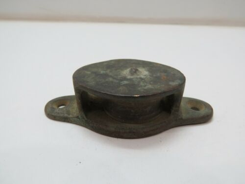 1+1/4 INCH BRONZE DECK PULLEY BLOCK TACKLE BOAT SAIL (C4B78A)