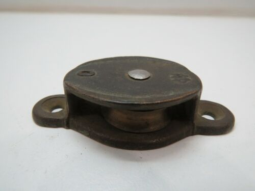 1+1/8 INCH BRONZE WILCOX CRITTENDEN DECK PULLEY BLOCK TACKLE BOAT SAIL (C4B79A)
