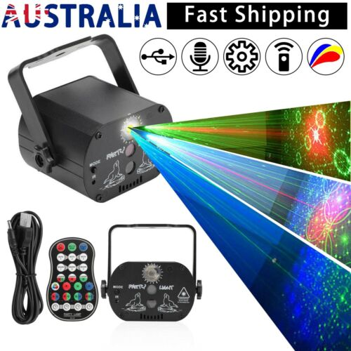60 Pattern Laser Projector Stage Light LED RGB Party KTV Club DJ Disco Lights AU