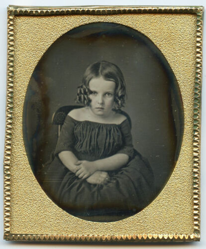 1/6 Plate Daguerreotype, Adorable Young Girl