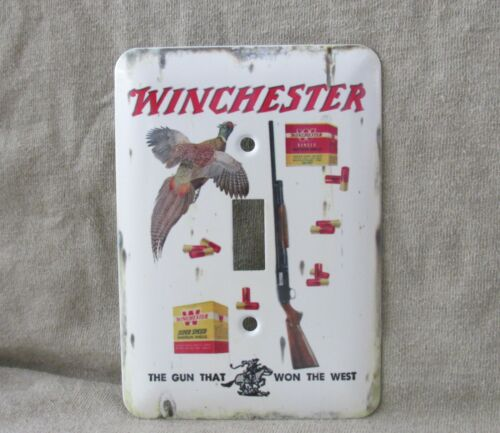 Winchester Super Speed Shells - Metal Light Switch Cover -New- Old Tin Sign Look