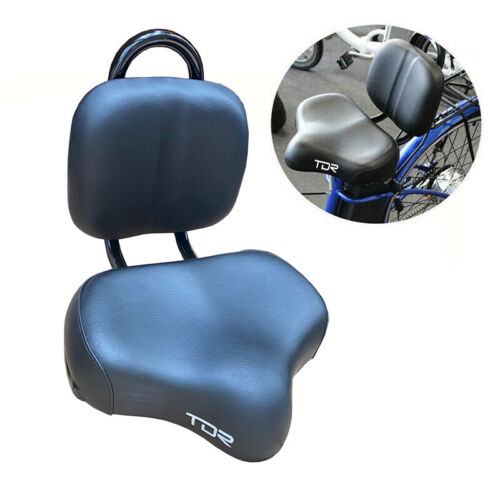 Ebike Bicycle Tricycle Bike Bicycle Saddle Seat Cushion Pad w/ Back Rest Support