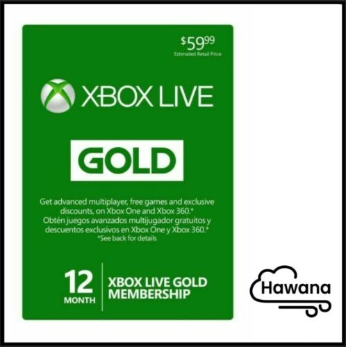 Microsoft Xbox LIVE 12 Month /1 Year Gold Membership for Xbox Series X/ONE/360